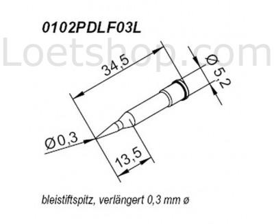 Lötspitze 0,5mm bleistiftspitz
